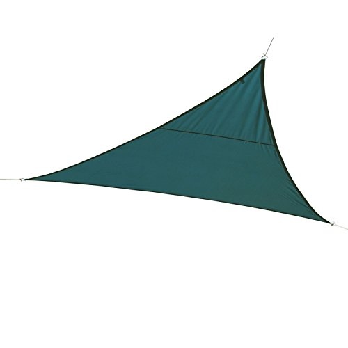 Hespéride Toile Solaire/Voile d'ombrage Triangulaire Curacao - 4 x 4 x 4 m - Bleu Orage