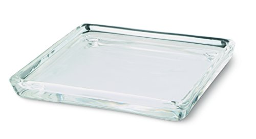 Bolsius Bougie Rectangle Assiette Plate, Assiette, Verre Transparent