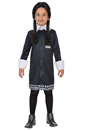 Ciao-Costume Mercoledì Addams Family, 5-7 Jahre, schwarz,