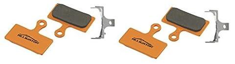 Alligator Organic MTB Bike Disc Brake Pads for Shimano XTR/DeoreXT/SLX/Alfine (2 Pair) by Alligator