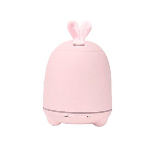 JUEJIDP Mini bunter heller Kaninchen-Aromatherapie-Luftbefeuchter Nachttisch-stiller Aromatherapy Maschinen-Luftbefeuchter