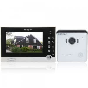 "VDP-316+CAM-212 7"" TFT Metal Wired Video Door Phone Doorbell with Night Vision White + Black"
