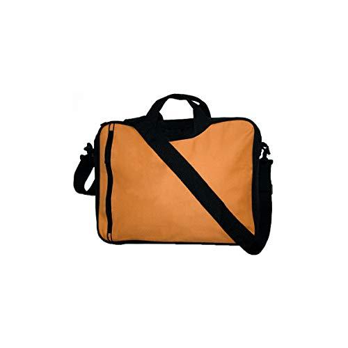 Projects Laptoptasche 'Rotterdam' aus 600D Polyester - Premium Qualität - Vortasche für Zubehör- Schultergurt - Tragegriffe - Business Bag für Notebooks & Tablets - stabil & gepolstert (orange) -