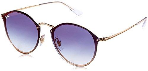 Ray-Ban Unisex-Erwachsene 0RB3574N 001/X0 59 Sonnenbrille, Gold/Cleargradientbluemirrorred