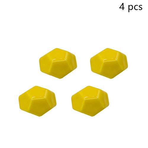 Lvcky 4Moderner Diamant Form Schrank Knöpfe Griffe Keramik Schrank Schublade Knauf zieht Set Office Home gelb -