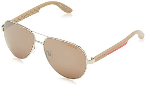 Carrera - Occhiali da Sole 5009 8G, Unisex adulto, Lenti: Brown Silver Mirror, Montatura: Ruthenium Grey Red (0TO), 58