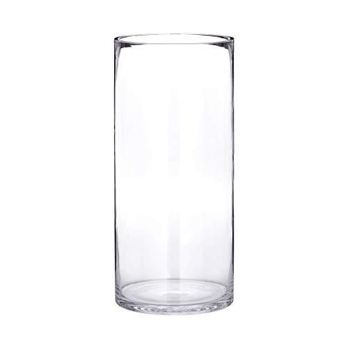 Butlers Pool zylindrische Bodenvase - Bodenvase aus Glas | Große Vase | Höhe 40 cm