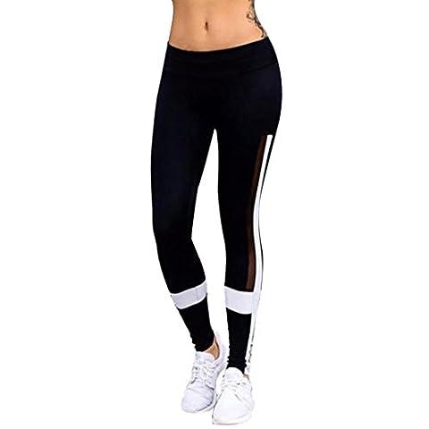 KanLin Damen Sport Yoga Fitness Leggings Übung Athletic Hosen (Schwarz, XL)