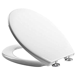 Soft Close Quick Release Toilet Seat, White (Heavy Duty) - Dual Fixing System - By Mass Dynamic ®