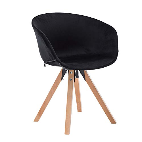Rezeption Sitzgelegenheiten (RXBFD chair Massivholzsessel, moderner Mid-Century Esszimmer- / Akzentstuhl, geeignet für Freizeit/Büro/Rezeption/Wohnzimmer/Schreibtisch/Patio/Terrasse/Büro/Küche)