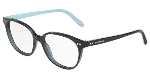 Tiffany & Co. Modell: Tf2154 | Farbe: 8232 Brille-Rahmen-W/Clear Demo-Objektiv Schwarz/Silber Serigraphie