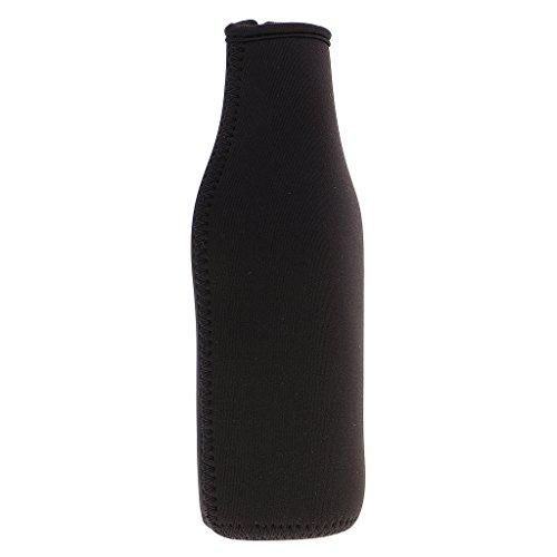 MagiDeal 330ml Neopren Isolierhülle Flaschenhülle Getränkekühler Bierkühler-Farben Auswählbar - Schwarz