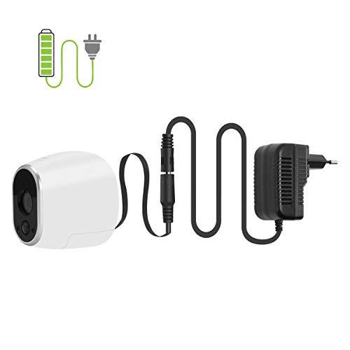 Netzteil Adapter kompatibel mit Netgear Arlo Überwachung Kamera VMC3030 Smart Home Zubehör (EU Stecker, schwarz)