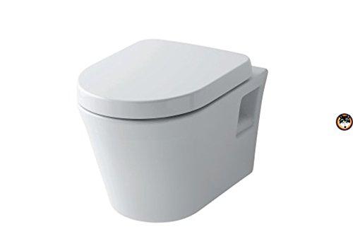 TOTO Public ES Wandtiefspül-WC spülrandlos CW797 + WC-Sitz SoftClose (Toto Wc-schüssel)