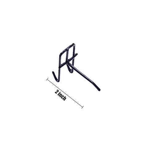 5PCS Schwarz Platten-Anzeigen-Haken, Gitterwand-Haken, Hochleistungswand-Haken 2