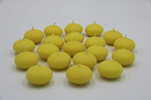 HMH - Velas flotantes (20 Unidades, 45 mm), Color Amarillo
