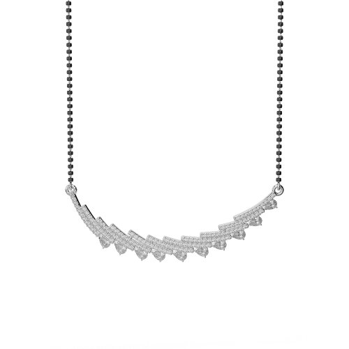 Or blanc/or jaune/Platinum-Collier Femme-diamant mangalsutra ims-1771-vsgh