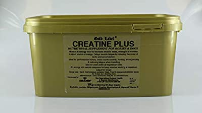Gold Label Unisex's Herbal Health Creatine Plus, Clear, 1 kg by Gold Label
