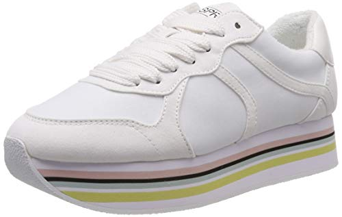 ESPRIT Damen AMU Plat LU Sneaker Weiß (White 100) 39 EU