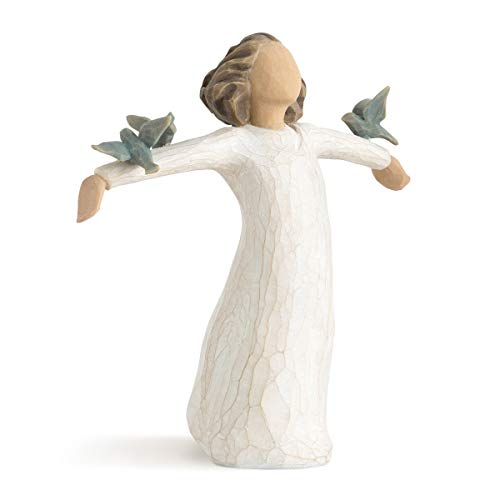 Willow Tree 26130 Figur Susan Lordi, Zufriedenheit, Glück, Fröhlichkeit, 3,8 x 3,8 x 14 cm