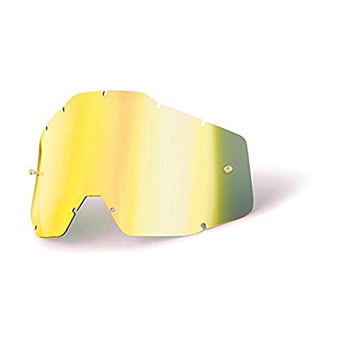 100% RACECRAFT/ACCURI/STRATA Ersatzlinse Spiegel/Smoke Anti-Nebel, Gold , Größe One Size