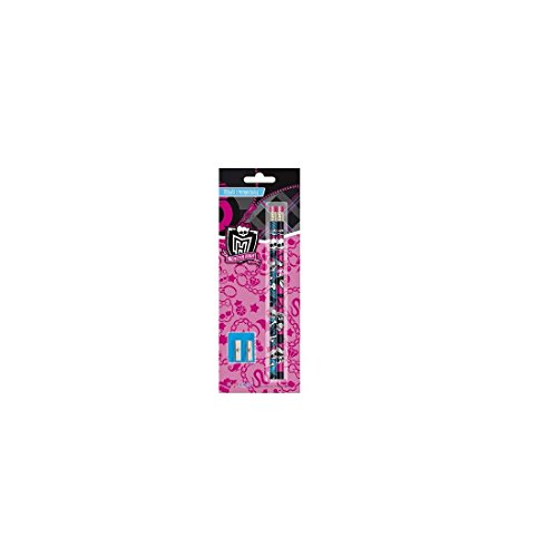 Monster High 4 Bleistifte mit (High Monster Bleistifte)