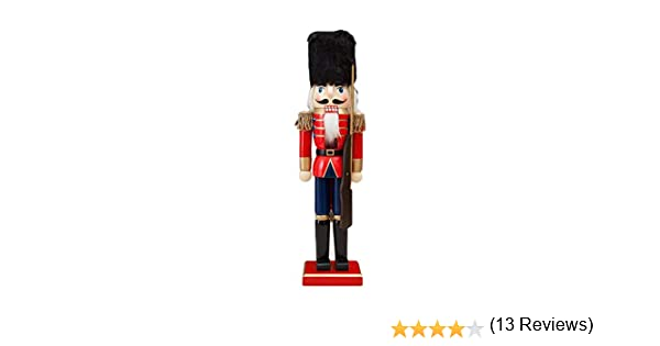 Artisanat en bois 38CM Fine Casse-Noisette Soldat Marionnette No/ël Cadeau D/écoration D/écoration De No/ël Poup/ée Casse-noisette En Bois Roi Figurine Soldat