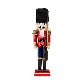 Bambole in legno da 38cm Crafts fine schiaccianoci a forma di soldato Puppet decorazione natalizia marionette figure Dolls Toy
