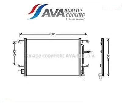 Preisvergleich Produktbild AVA COOLING SYSTEMS Kondensator für Klimaanlage, AI5238