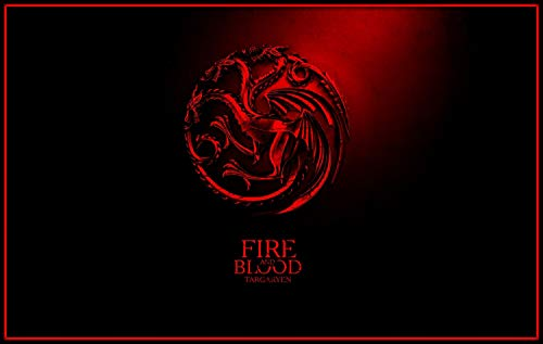 bubbleshirt Poster Fire And Blood targaryehn Trono di Spade - Game of...