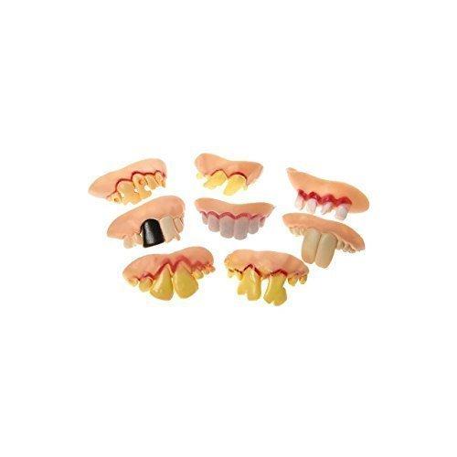 8 x Schlechte Zähne Gebiß Faule Zähne Karneval Fasching