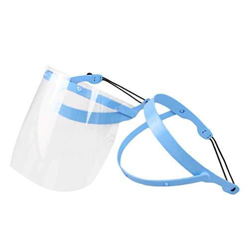 Healifty Verstellbarer Schutzrahmen für das Gesicht und die Klinik, beschlagfrei, abnehmbar, mit 10 Kunststoff-Schutzfolien -