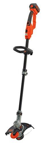 Black+Decker Akku-Rasentrimmer, Motorsense (18V 4.0Ah, Rasenkantenschneider mit Führungsrad, 30 cm Schnittbreite) STC1840, schwarz orange