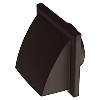 Plastic Hooded Louvred Cowled Wall Grille Extractor Fan Duct Vents 150mm Sq (100mm, 4