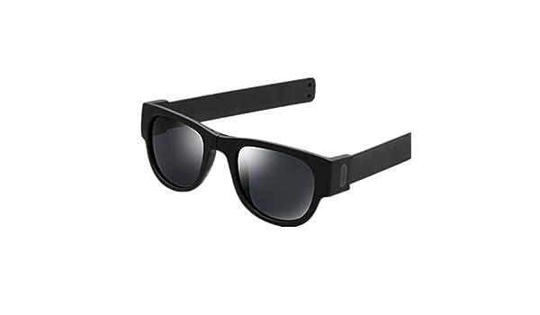 254e906a81905 Creative Foldable Men Women Sunglasses Wristband Slappable Polarized Sun  Glasses Oculos De Sol Masculino Snap Bracelet Glasses Pink  Amazon.in   Clothing   ...