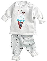 Hibote Pijamas para Niños Niñas Bebé Homewear Cute Animal Espesar Manga Larga Cuello Redondo Camisas +