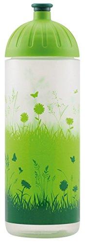 Original ISYbe Marken-Trink-Flasche für Kinder und Erwachsene, 700 ml, BPA-frei, Gras-Motiv, geeignet für Schule-Reisen-Sport & Outdoor, Auslaufsicher auch mit Kohlensäure, Spülmaschine-fest