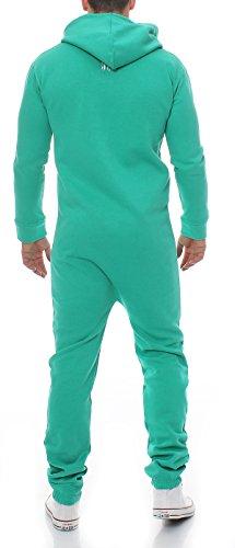 Herren Jumpsuit Jogger Jogging Anzug Trainingsanzug Einteiler Overall 9t5 grün