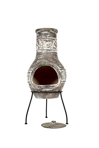 La Hacienda Maple Leaf Clay Chimenea, Medium-Bronze Effect