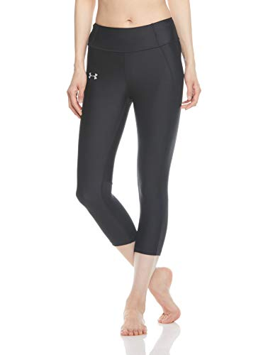Leggings riflettente Donna Under nero r1p Speed Nero Capri ​​Stride Armour q6ZUCwxB