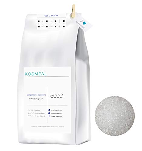 Bittersalz - Essbar Darmreinigung/Garten / Badesalz - 500G - Hergestellt In Deutschland - Umweltfreundliche Verpackung In Weißem Kraftpapier