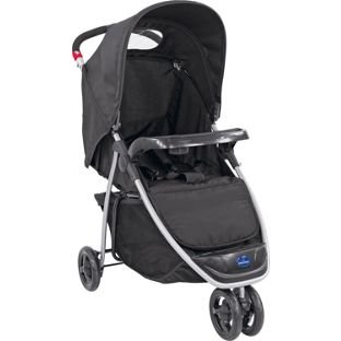 BabyStart Ria 3 Wheeler Pushchair - Black.