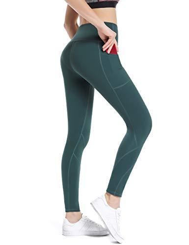 ings mit Taschen Damen Sporthose Yogahose Fitnesshose Yoga Leggings für Damen ()