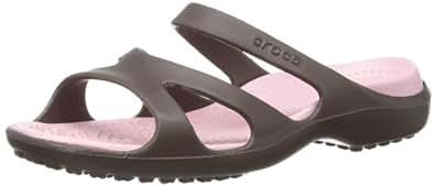crocs Meleen Damen Durchgängies Plateau Ballerinas, Braun (Espresso/Petal Pink), 35