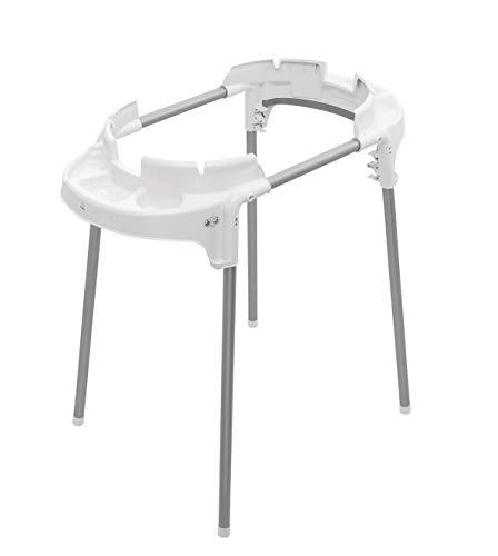 Rotho Babydesign TOP Wannen-Funktionsständer, Klappbar und höhenverstellbar, Für TOP Badewannen, Max Belastung 60kg, 100 x 101x 51,5 cm, Weiß, 20502