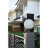 Jyatu White Gate Lamp/Gate Lamps/Gate Light/Gate Lights/Gate Lamps For Outdoor/Gate Light/Gate Light For Home Gate/Gate Light For Pillar/Main Gate Light (Color: White, GET LIGHT0719104)