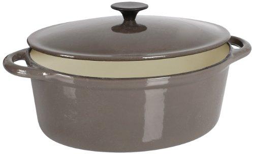 Crealys 513357 - Cocotte ovalada hierro fundido 4 litros