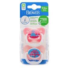 2 Pack Boy Mam Baby Soother Dummy Pacifier Teat Nipple 6m Girl Style 12m