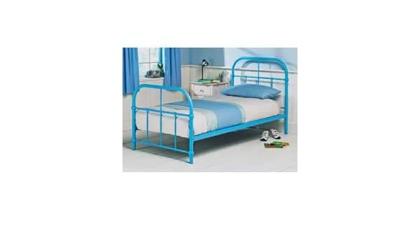 Ex Argos Acacia Single 3FT Blue Metal Bed Frame Head/foot Board only ...