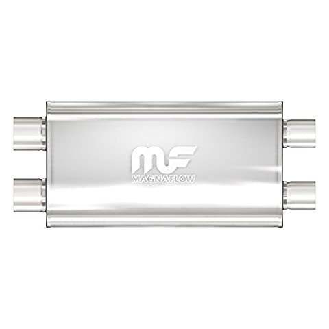 Magnaflow 12599 Satin Stainless Steel 3 Dual Oval Muffler by Magnaflow